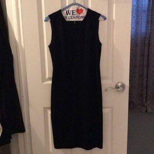 Calvin Klein Black Suede Dress